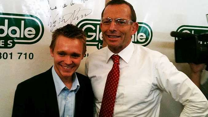 Federal Opposition Leader Tony Abbott lends his support to Longman LNP candidate Wyatt Roy.