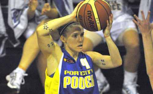 CALLED UP: Port City Power point guard Natalie Hurst has been training with the Australian women's squad this week.