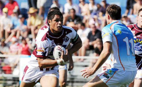 Manly-registered player Junior Palau in action for the Sunshine Coast in last year's Queensland Cup grand final.