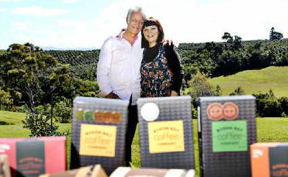 Winners: Franco and Annie Ivancich of Byron Bay Coffee Company, Newrybar, celebrate their recent winnings and now have 73 national awards for their coffee and coffee-related products.
