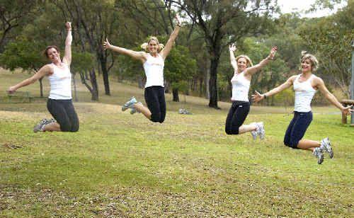 Kristy Barnett, Rebecca Josey, Amanda Eising and Megan Schliebs are preparing for Botanic to Bridge on Sunday.