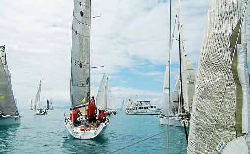 The view from aboard Lóco during the Airlie Beach Race week.