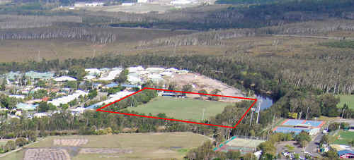 The Coolum football grounds where plans are afoot to extend the Coolum Waters Retirement Resort.