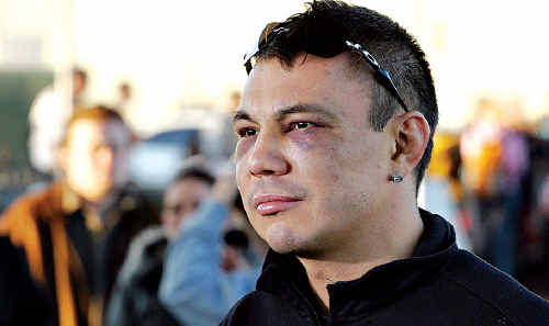 Kostya Tszyu, arrives at Sydney Airport in June 2005 after losing the IBF world light welterweight title to England's Ricky Hatton. Tszyu will be an interested observer at next weekend's Golden Gloves tournament in Caboolture.