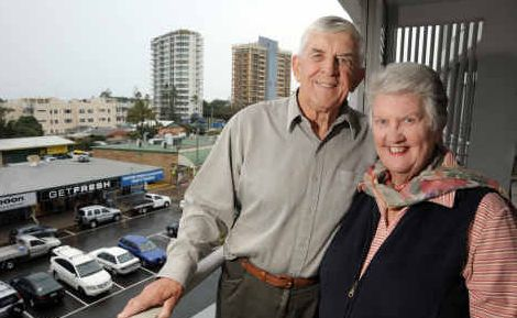 Walter and Meryl Bolin have returned to Cotton Tree where they fell in love 57 years ago.