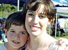 Cancer survivor Candice Daly with her brother Korbin at yesterday's Relay For Life.