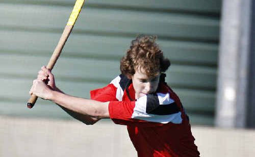 Alstonville's Owen Head has a shot on goal in the FNC A-grade hockey match against Star on Saturday.