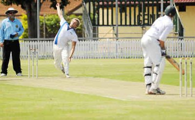 Brothers Mitch Sartori bowling against Country Wests at Salter Oval. Both teams will be part of a new inter-city competition this season.