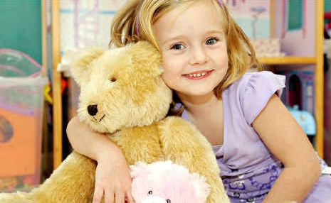 Four-year-old Jade Neuendorf, the face of the 2010 Woolworths Fresh Food Kids Hospital Appeal.