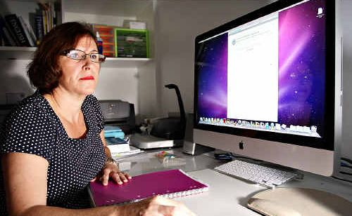 Elizabeth Rigg is angry at losing internet access for two weeks at her Buderim house.