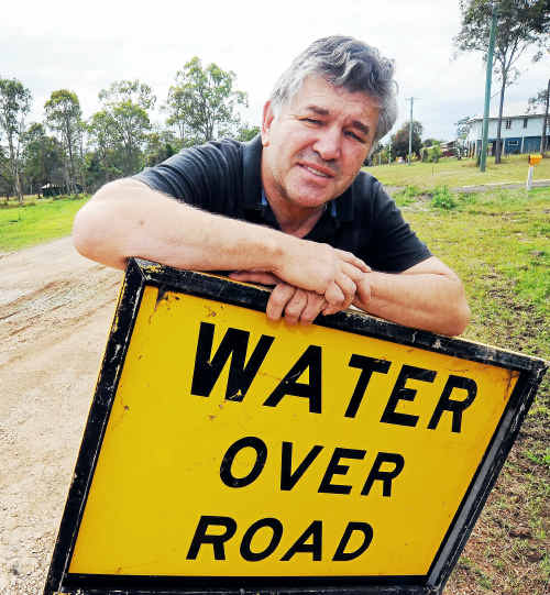 Avondale resident Herbert Pereira is frustrated by ongoing drainage problems in his area.