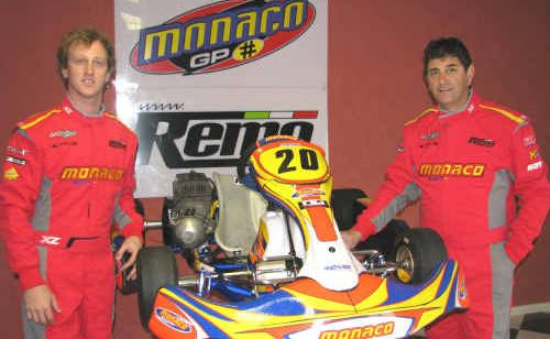 Cian Fothergill and sponsor Remo Luciani from Remo Karting.