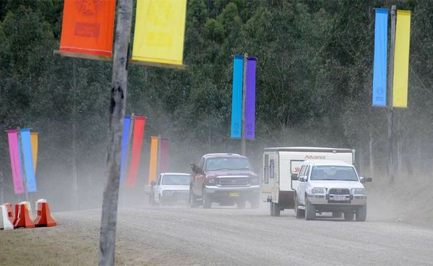 All roads led to the Optus Muster yesterday as campers headed into the site for a great week of music in the country.