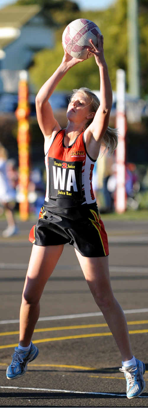 Emma Taber of the Blazers will attempt to knock over the Cosmos in the elimination final this weekend.
