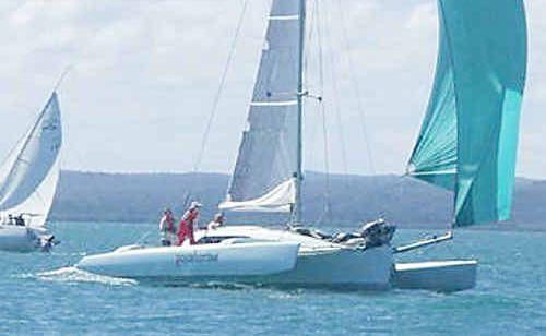 Hervey Bay sailor Tony Richardson wins the race around Woody Island aboard Pocahontas.