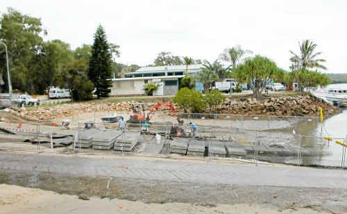 The boat ramp at the 1770 Marina is being widened and upgraded, with boaties keen for the revamp of their favourite fishing take-off point.