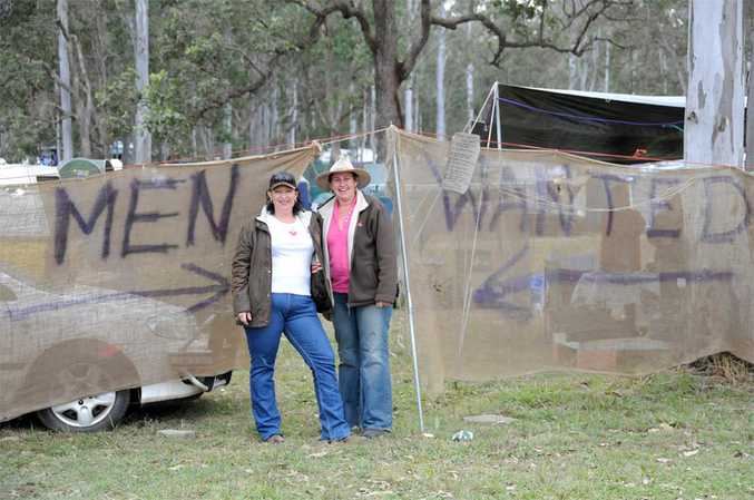 Kylie Hogan and Kathy Drew are having fun at the Muster this year, but want to ensure it stays a country music event.