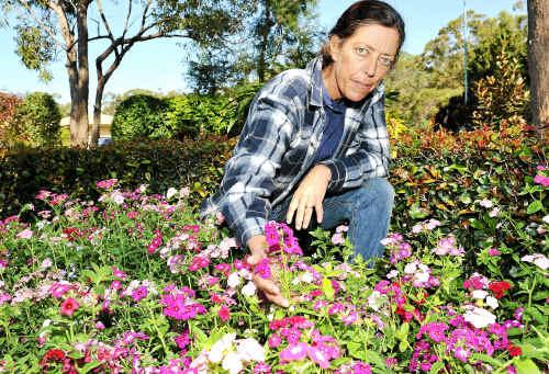 Tom Quinn Community Centre horticulturist Anne Davies.