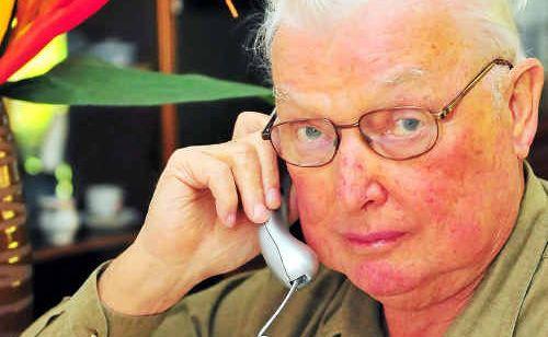 Retiree Barrie McLellan mulls over apparent discrepancies on his rates statement.