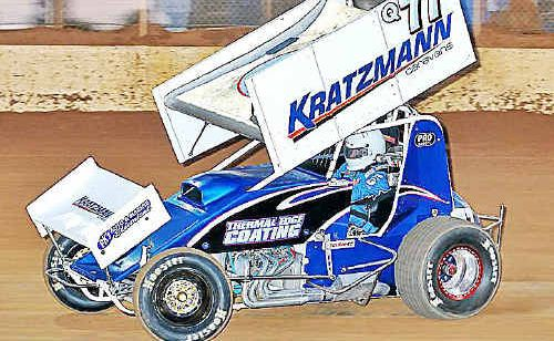 V8 Sprintcar driver Brent Kratzmann will be in action during the Maryborough Speedway practice session tonight.