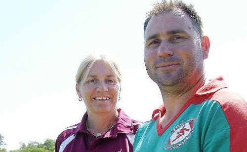 Dianne Worters from Queensland Touch and Maryborough Touch president Ashley Stackman will go all out to ensure the state titles run smoothly this weekend.