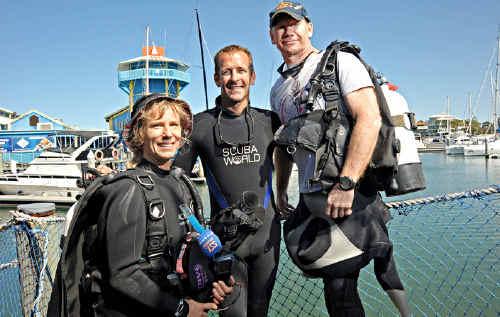 Amanda McCormack, David Ross and Simon Doughty are keen on Coast diving.