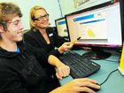 Jobseeker Jeremy Smith, 18, gets some valuable advice from Tom Quinn Centre job preparation trainer Bronia Ramsay.