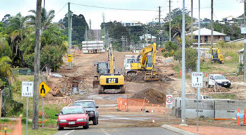 Workers at the Main Street roadworks site have been putting in huge efforts to make sure the project stays on track.