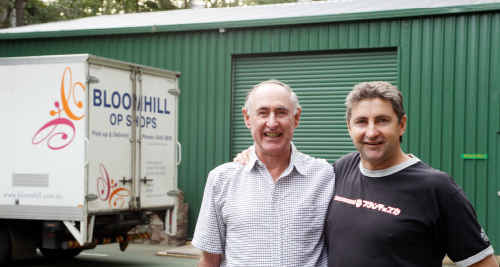 Grant Hannaford and his dad George have formed Bloomhill Blokes where men can catch up for a barbecue and a chat.