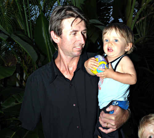 Steve May, with son Jackson, 1.