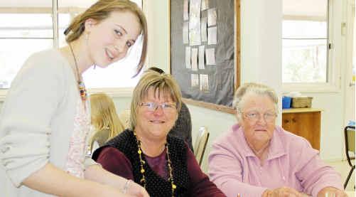 Rita Bradshaw, Pam Burley and Daisy Davies.