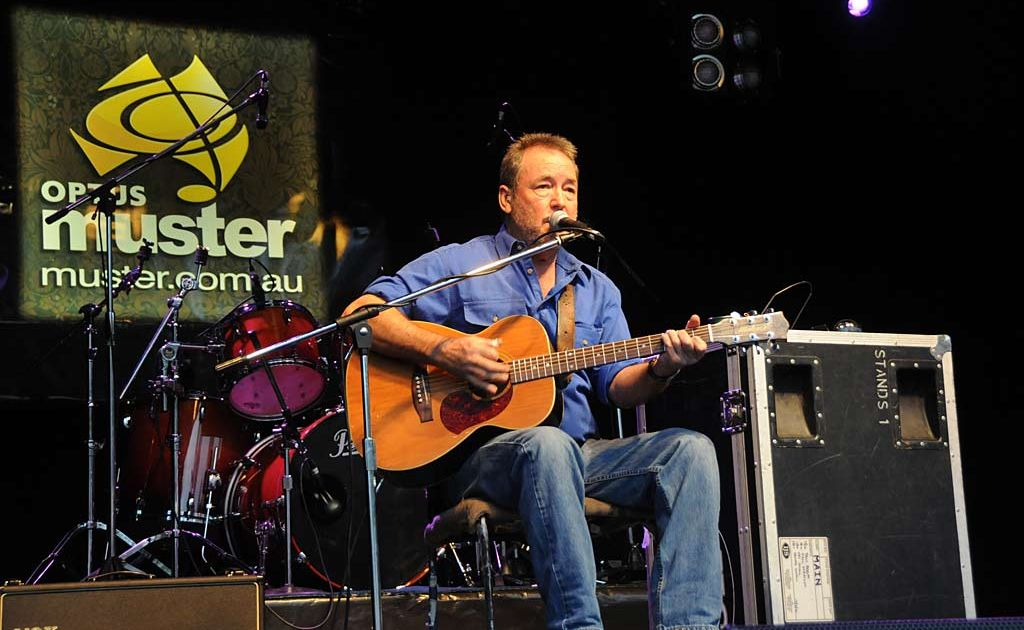John Williamson performs on the Main Stage at the 2010 Muster.
