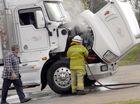 Truck fire blocks Anzac Avenue