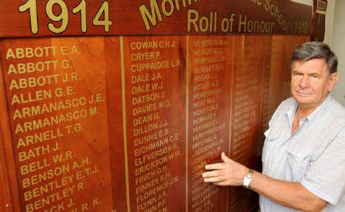 Greg McGuire is searching for details to complete the WWI and WWII Roll of Honour boards for Gympie High.