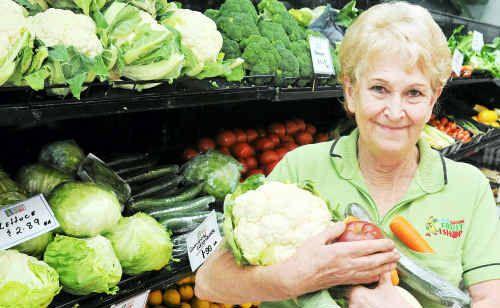 Helen Whittaker, owner/manager of Gladstone Fruit Shop, Barney Point.
