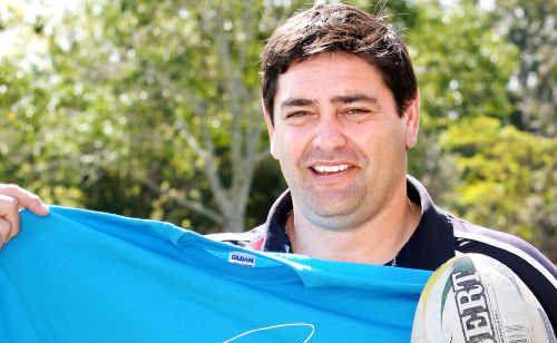 Glen Panoho with Rays fan shirt.