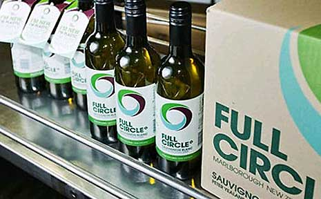 The Full Circle range generates 50 per cent less greenhouse gas emissions, 20 per cent less energy, features an eco-friendly recycled plastic bottle, and is made at a solar and wind powered winery.