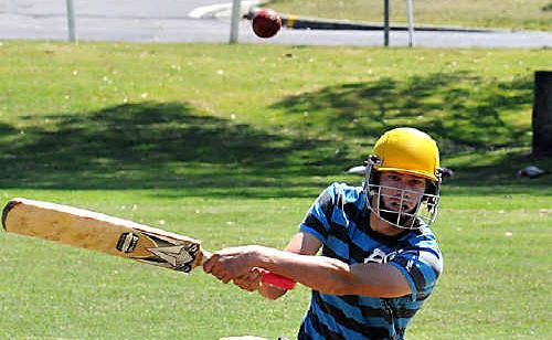 Gympie Sunshine Coast Scorchers representative Josh Brady gets stuck into last year's seven-a-side competition at the One Mile Ovals.