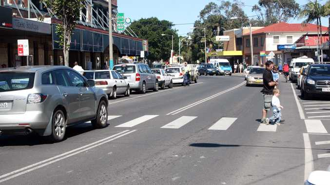 The pedestrian crossing in Jonson Street, Byron Bay, could be moved.