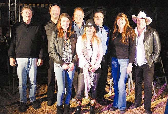 Rob Brock, Charlie McNeil, John Bromell, Greg Shaw, Kris West, Roger Faynes, Emma Barlow and Vanessa Lea at the Mustic Industry Forum at the 2010 Music Muster.