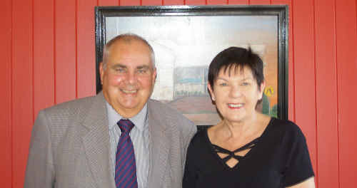 Ian Humphries and Patricia Fisk.