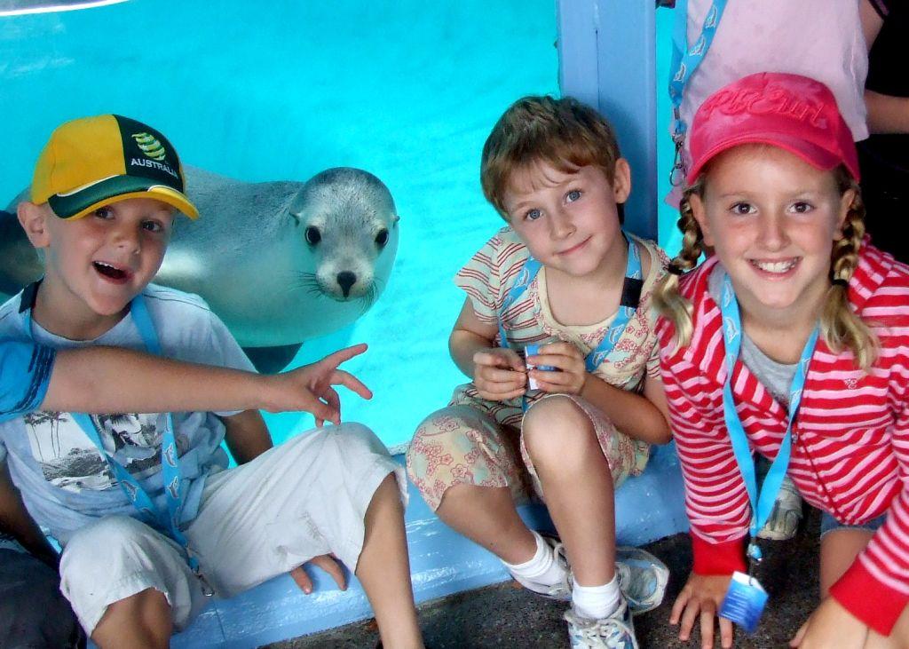 UnderWater World's Ocean Ranger holiday program is on everyday during the September school holidays.