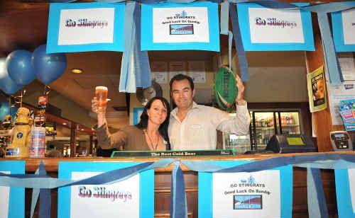Duporth Tavern co-owner Clayton Williams and staff member Kara Davis.