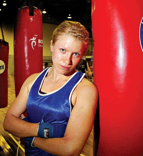 Malin Kirjonen will fight for the Global Boxing women's 67kg Queensland title tonight.