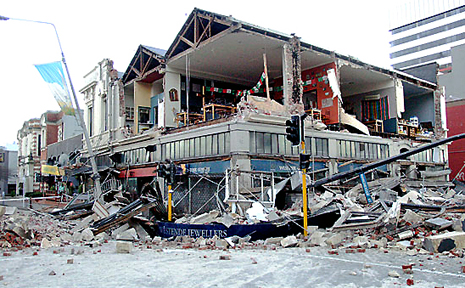A 7.4 magnitude earthquake caused widespread damage in Christchurch, New Zealand.