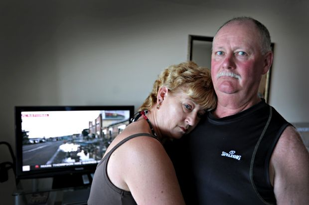 Christchurch residents Neville and Lorraine Chatterton watched the quake drama unfold in their hometown on television in their Mooloolaba unit.