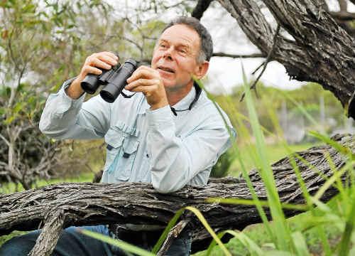 Bundaberg bird club member Trevor Quested wants to know about local jabiru sightings.