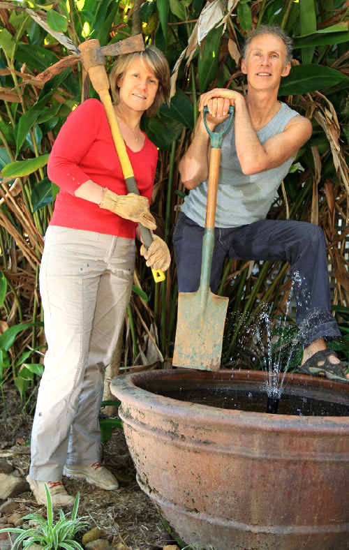 Shared passion: Organic farmers Runi and Anand Wells from Murwillumbah.