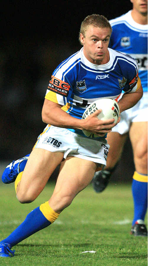 Recovered and revved: Luke O'Dwyer puts on the dazzle for the Gold Coast Titans this season.