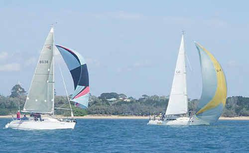 The sailors competing in the fifth race of the Hervey Bay Yacht Squadron's Winter Series enjoyed perfect sailing conditions.